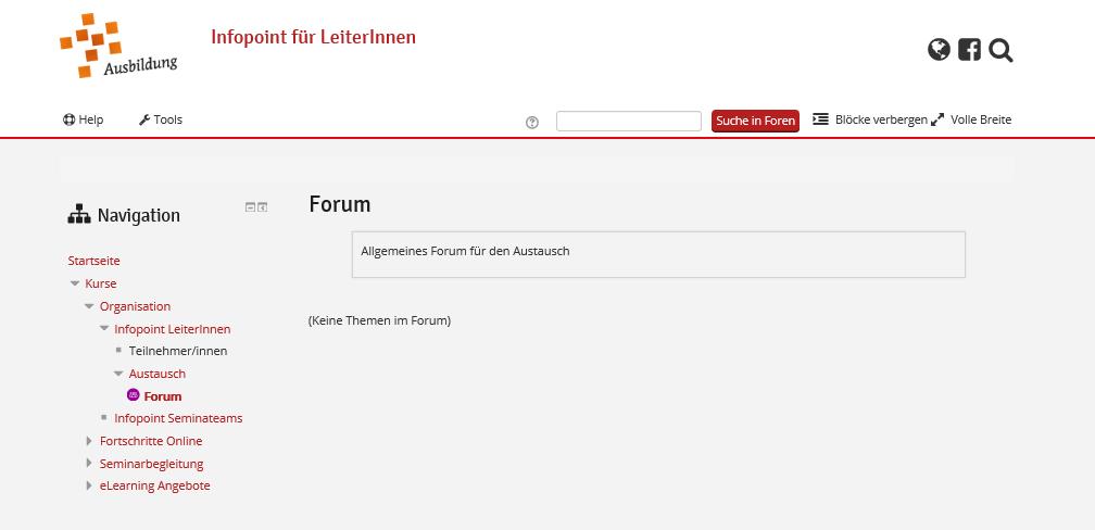 Übersicht Forum
